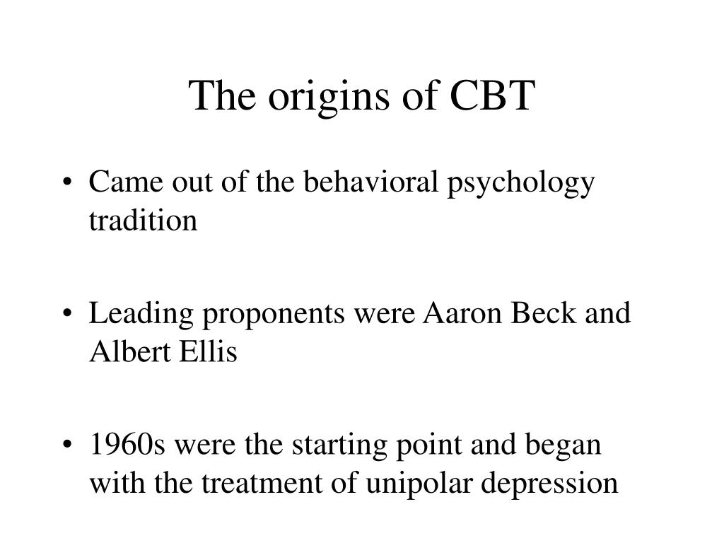 the origins of cbt l.