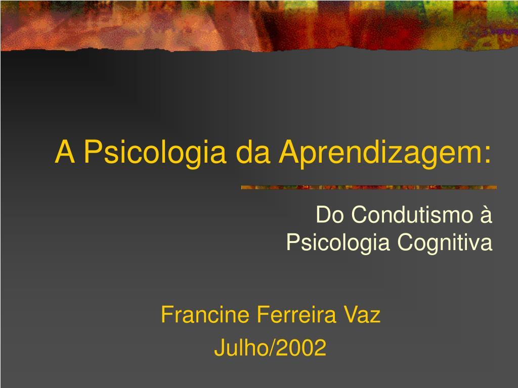 a psicologia da aprendizagem l.