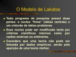 o modelo de lakatos