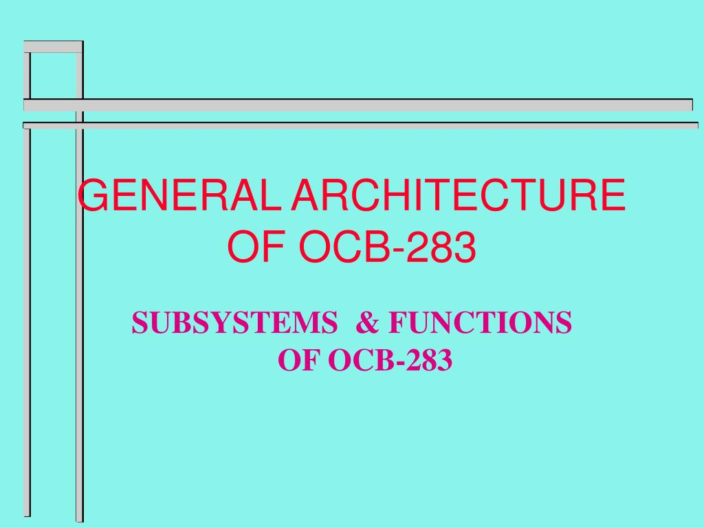 general architecture of ocb 283 l.