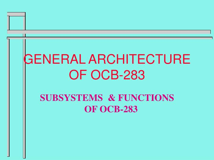 general architecture of ocb 283 n.