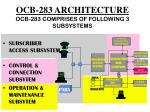 ocb 283 architecture ocb 283 comprises of following 3 subsystems