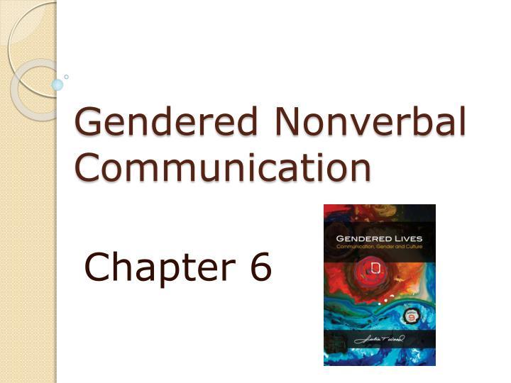 gendered nonverbal communication n.
