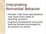 interpreting nonverbal behavior40