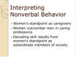 interpreting nonverbal behavior41