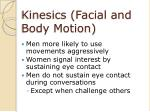 kinesics facial and body motion28