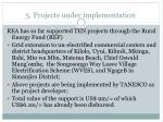 5 projects under implementation