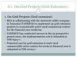 6 1 on grid projects grid extension