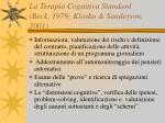 la terapia cognitiva standard beck 1979 klosko sanderson 2001