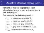 adaptive median filtering cont