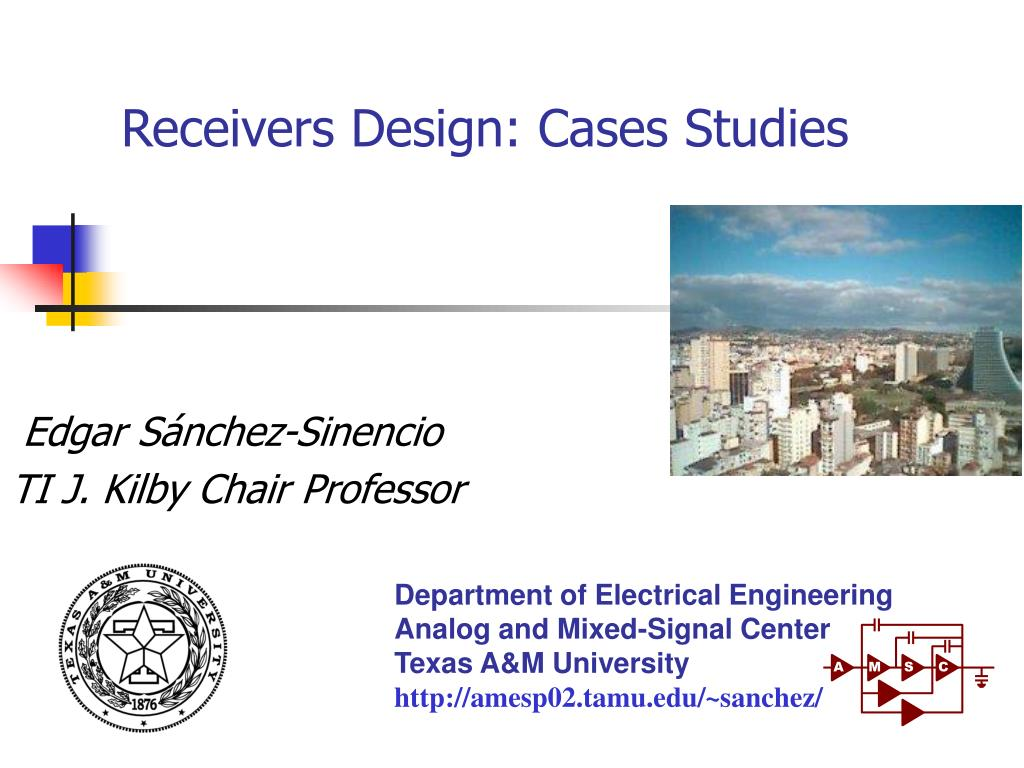 receivers design cases studies l.