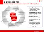 e business tax centrally manage tax transactions across entire e business suite