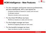 hcm intelligence new features