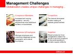 management challenges globalization creates unique challenges in managing