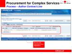 procurement for complex services process author contract line