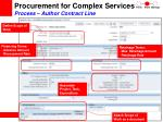 procurement for complex services process author contract line37