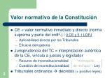 valor normativo de la constituci n