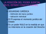 la posici n del poder judicial en el estado constitucional