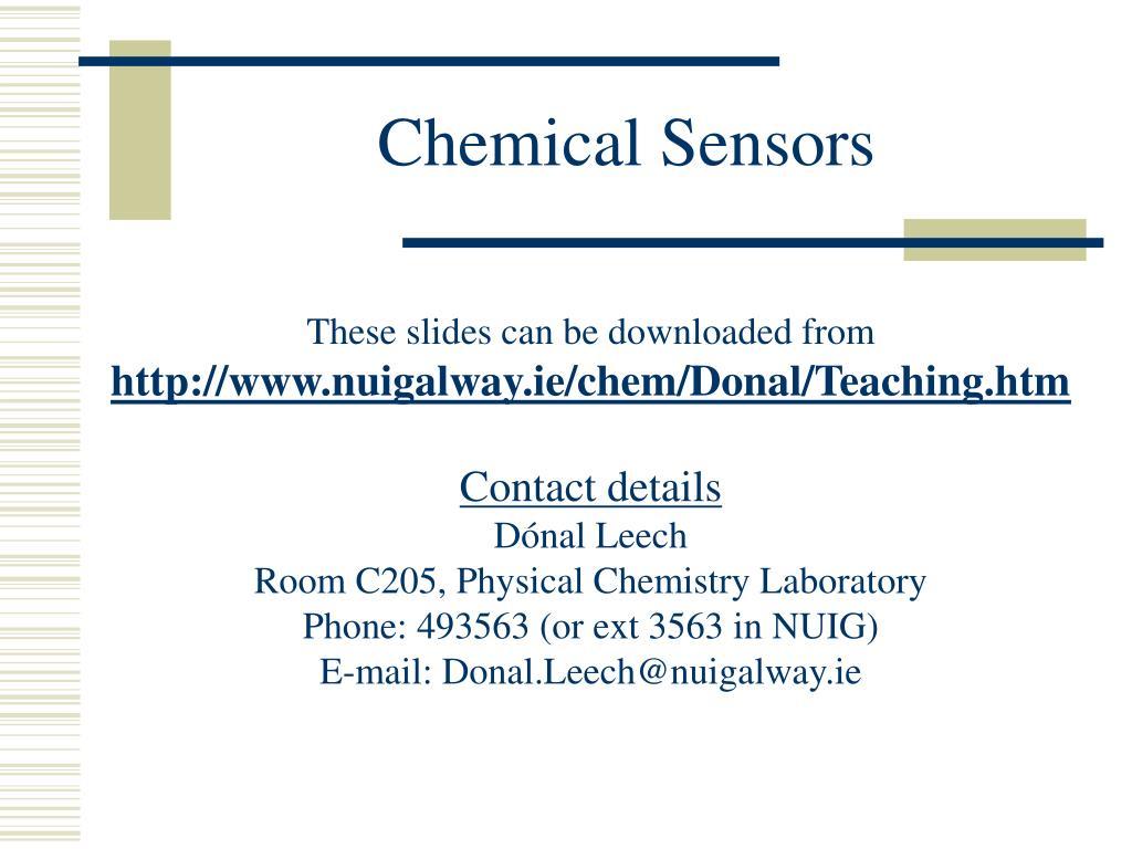 chemical sensors l.