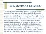 solid electrolyte gas sensors