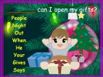 can i open my gifts