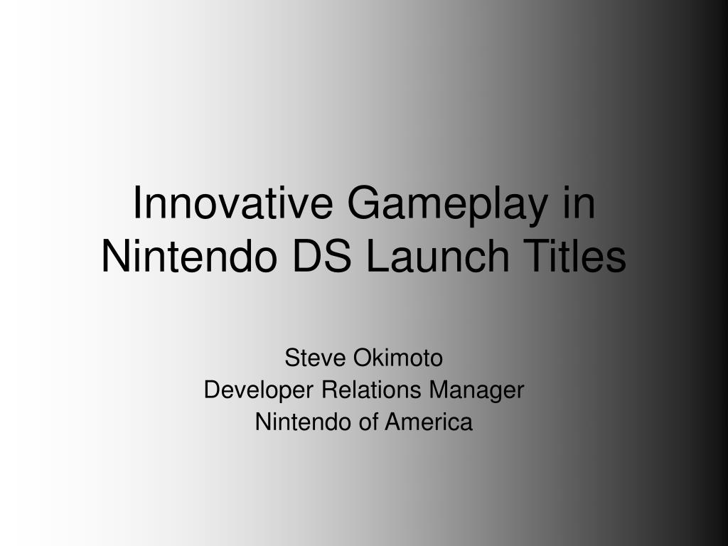 innovative gameplay in nintendo ds launch titles l.