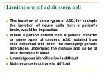 limitations of adult stem cell