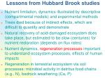 lessons from hubbard brook studies