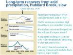 long term recovery from acid precipitation hubbard brook slow