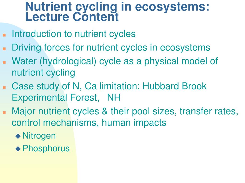 nutrient cycling in ecosystems lecture content l.