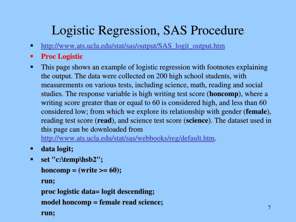 how to read logistic regression output