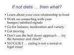 if not diets then what