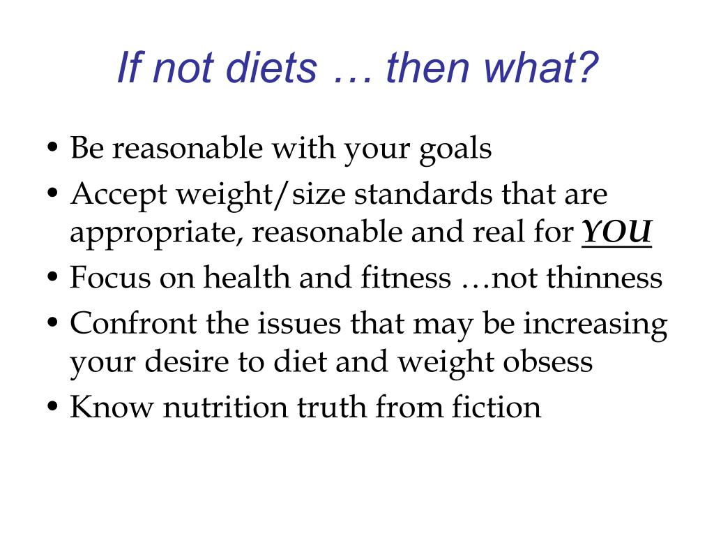 If not diets … then what?