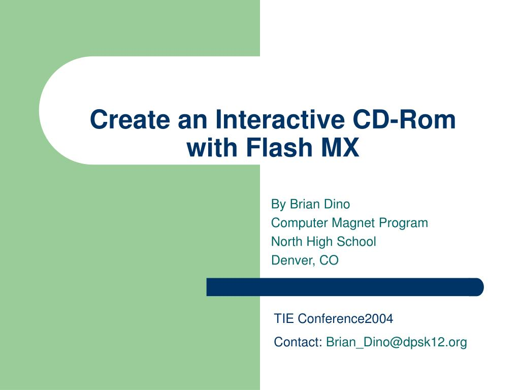 create an interactive cd rom with flash mx l.