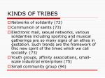 kinds of tribes
