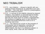 neo tribalism