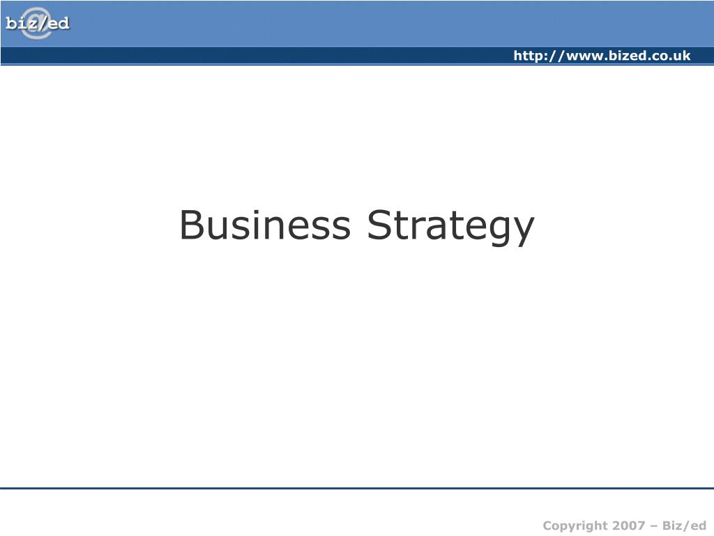 business strategy l.