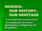 nigeria our history our heritage12