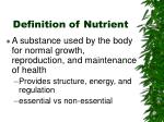definition of nutrient