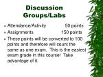 discussion groups labs