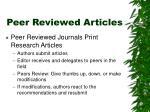 peer reviewed articles