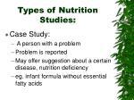 types of nutrition studies