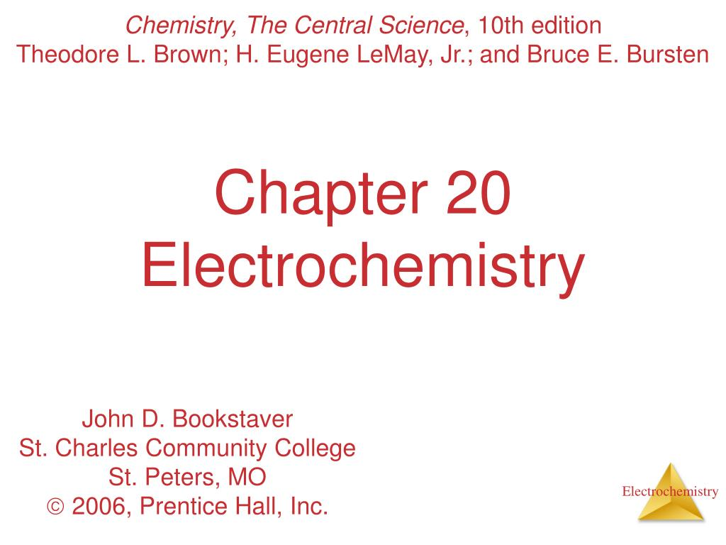 chapter 20 electrochemistry l.