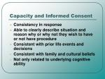 capacity and informed consent