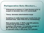 perioperative beta blockers