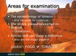 areas for examination