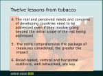 twelve lessons from tobacco17