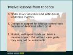 twelve lessons from tobacco18