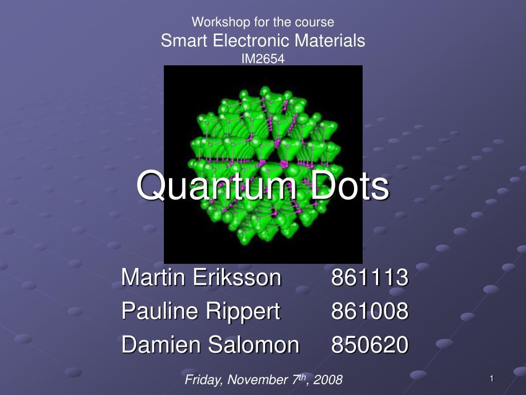 quantum dots l.
