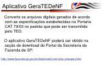 aplicativo geratedenf